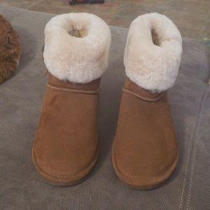 Bearpaw boots faux fur ankle boots size 9
